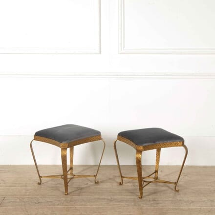 Pair of Gilded Iron Stools ST308063