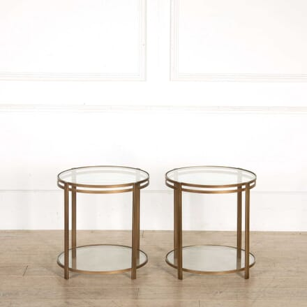 Pair of Gilded Metal Side Tables CO308249
