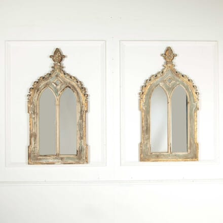 Pair of Gothic Style Mirrors MI138356