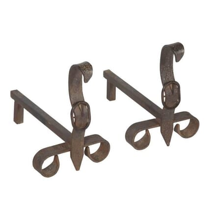 Pair of Iron Buckle Andirons DA1512252