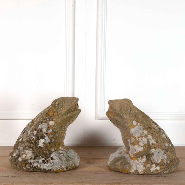 Pair of Large Composition Stone Frogs GA4462160