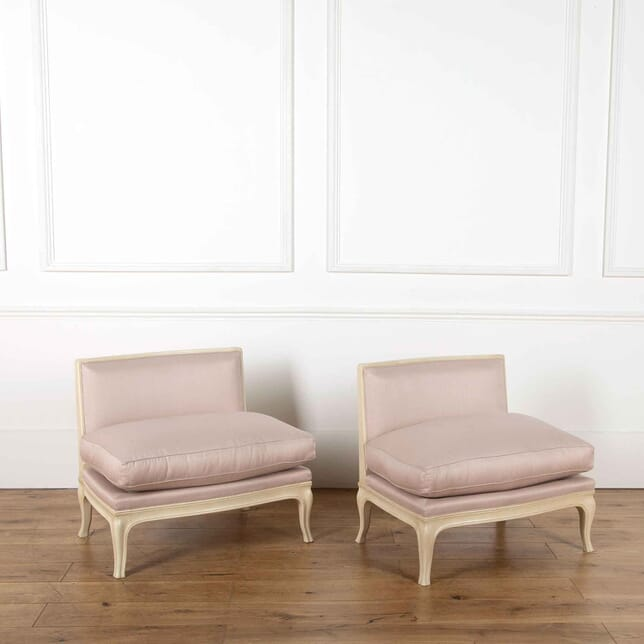Pair of French Low Side Chairs by Syrie Maugham CH638105