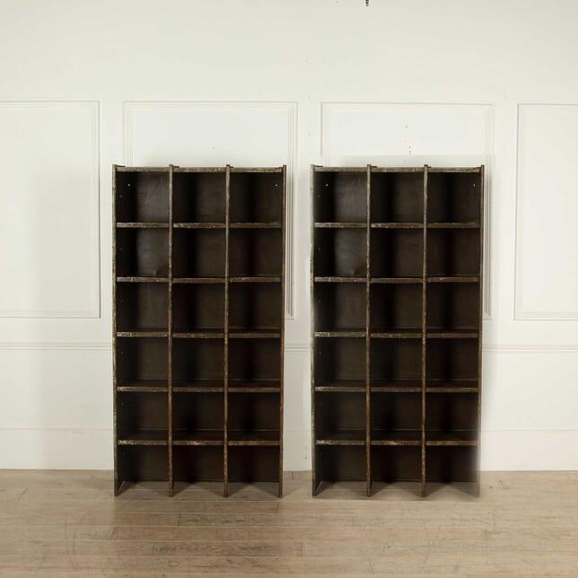 Pair of Metal Pigeon Hole Shelves BK138297