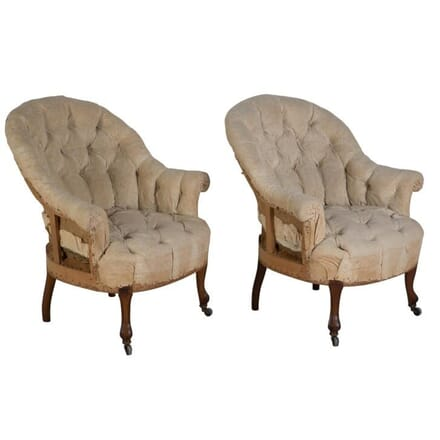 Pair of Napoleon III Armchairs CH158002