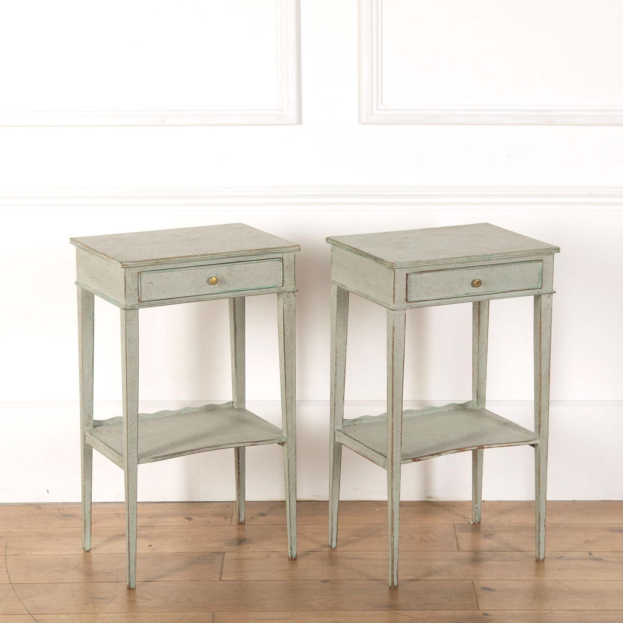 Pair Of Painted Bedside Tables Lorfords Antiques