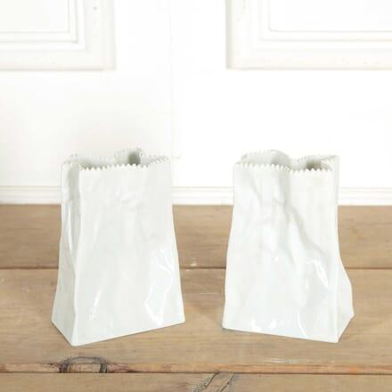 Pair of Paper Bag Vases DA308398