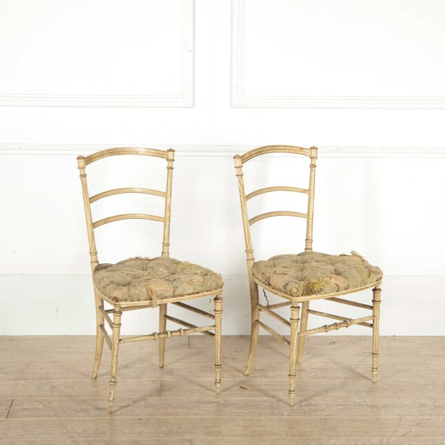 Pair of Regency Distressed Side Chairs CH138345