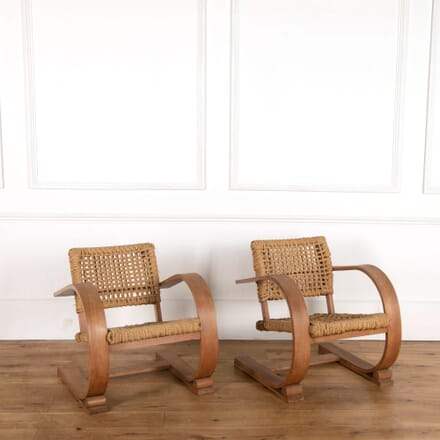 Pair of Rope Armchairs CH118710