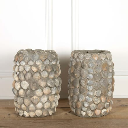 Pair of Sea Shell Planters GA208705