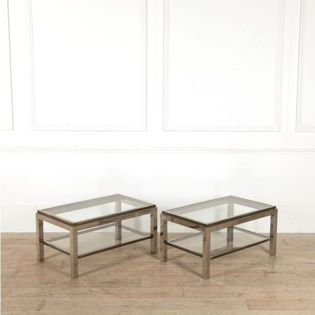 Pair of Signed Willy Rizzo Side Tables CT458026