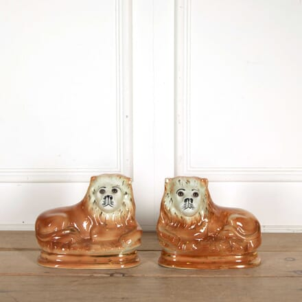 Pair of Staffordshire Lions DA138344