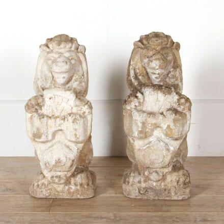 Pair of Stone Lions GA748146