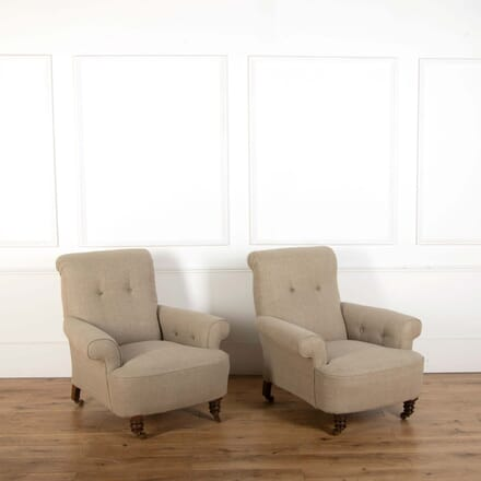 Pair of Upholstered Armchairs CH438600