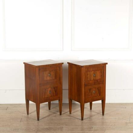 Pair of Walnut Bedside Cupboards BD398373
