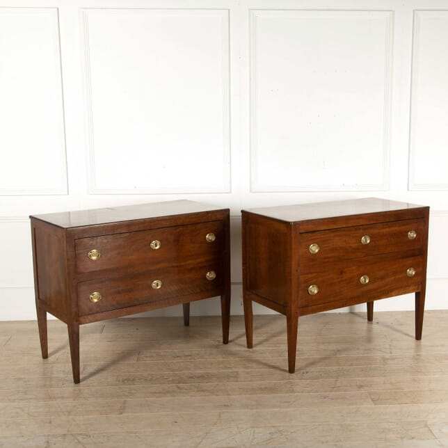 Pair of Walnut Commodes CC398372