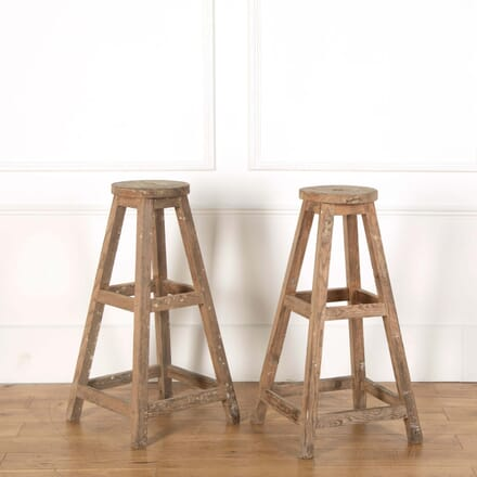 Pair of Wooden Sculpture Stands BK558655