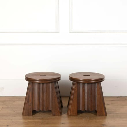 Pair of Wooden Stools ST558645