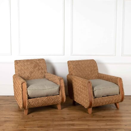 Pair of Woven Chairs CH538199