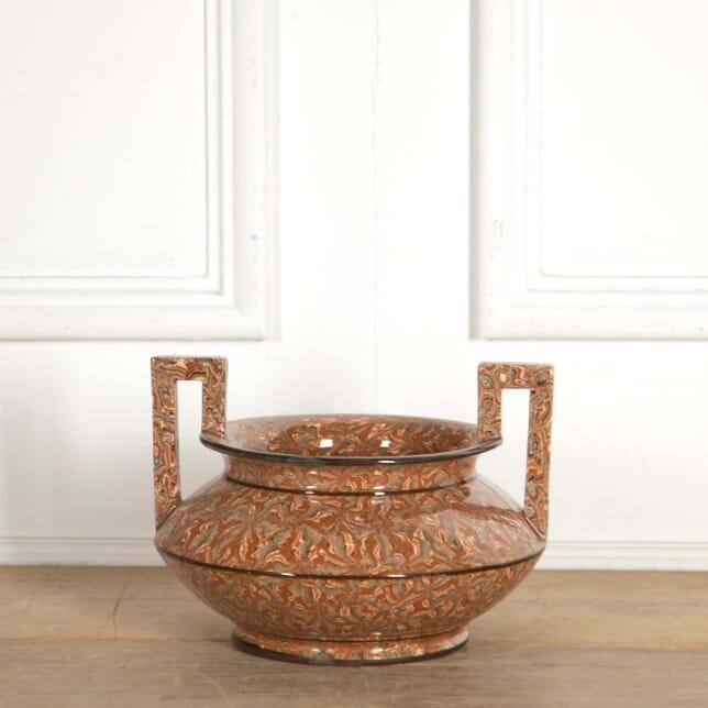 Pichon' Provencal Agateware Vase with Greek Handles DA288461