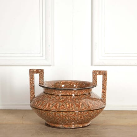 Pichon' Provencal Agateware Vase with Greek Handles DA288461