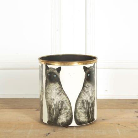 Piero Fornasetti Siamese Cats Wastepaper Basket DA298445