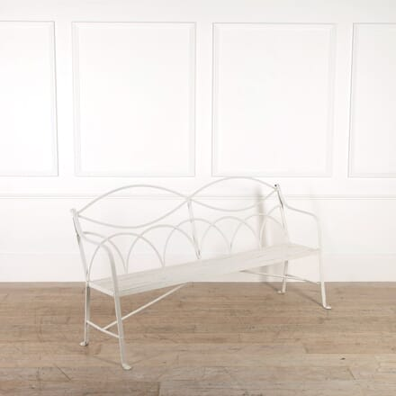 Regency Reeded Iron Garden Bench GA098778