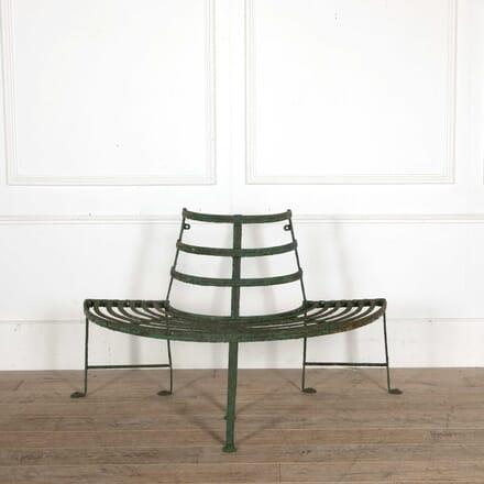Regency Reeded Wrought Iron Tree Seat GA098408