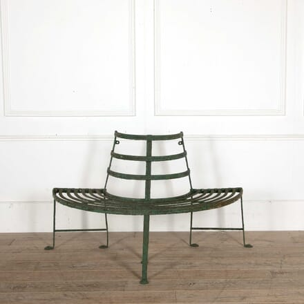 Regency Reeded Wrought Iron Tree Seat GA098408