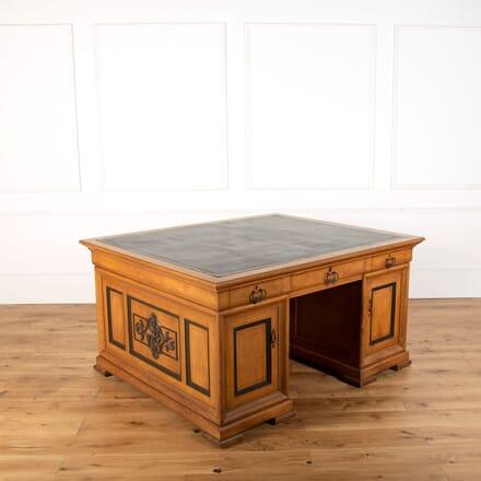 Satinwood and Ebony Desk DB478831
