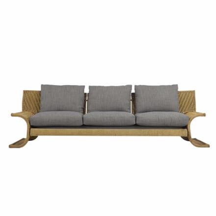 Italian 1970s Three Seat Sofa By Marzio Cecchi in Woven Cord SB68042
