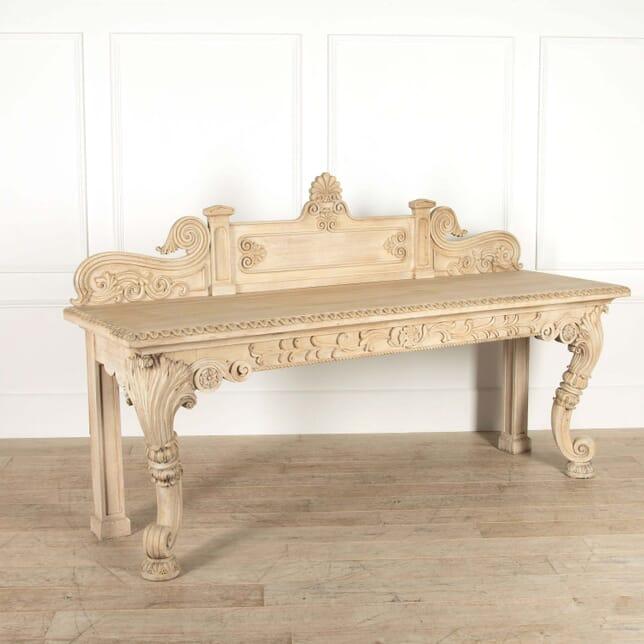 Scottish Bleached Oak Console Table CO048726