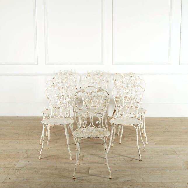 Set of 12 Iron Garden Chairs GA528995