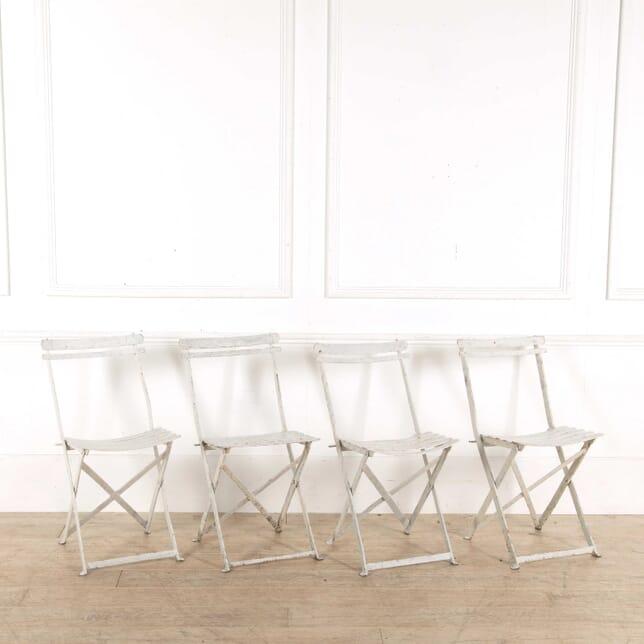 Set of 4 French Metal Folding Chairs GA028187