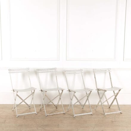 Set of 4 French Metal Folding Chairs GA028187