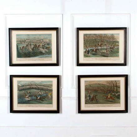 Set of 4 Hand Coloured Engravings of Cheltenham WD208220