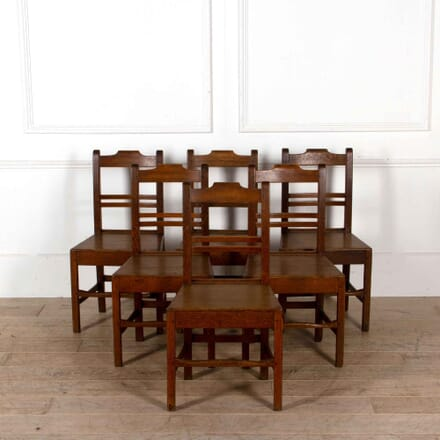 Set of 6 North Country Oak Chairs CD208221