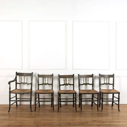 Set of Five Painted Regency Chairs CD748850