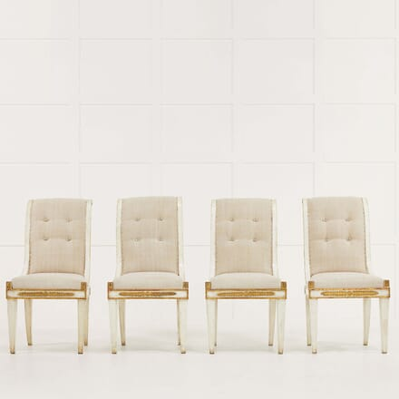 Set of Four Italian 19th Century Gilt and Painted Chairs CD068489
