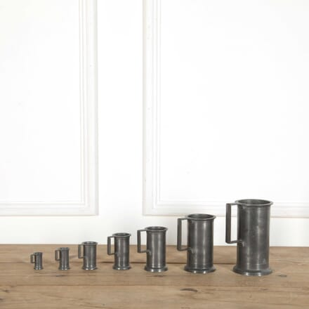 Set of French Pewter Measures DA998808
