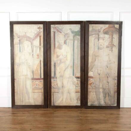 Set of Three Fresco Paintings WD438099