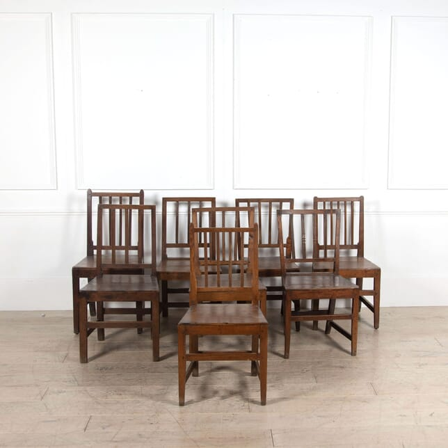 Set of Eight English 19th Century Dining Chairs. CD4462494