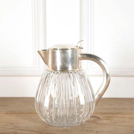 Silver Plated and Crystal Lemonade Cooling Jug DA588621