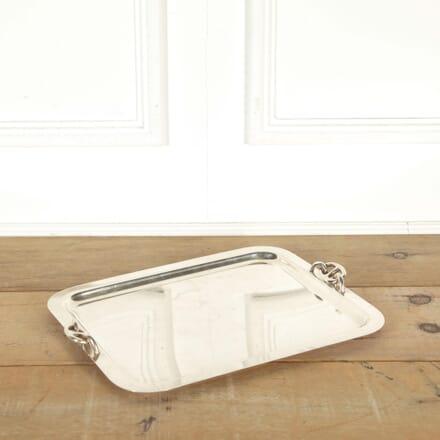 Silver Plated Tray by Hermès Paris DA298442