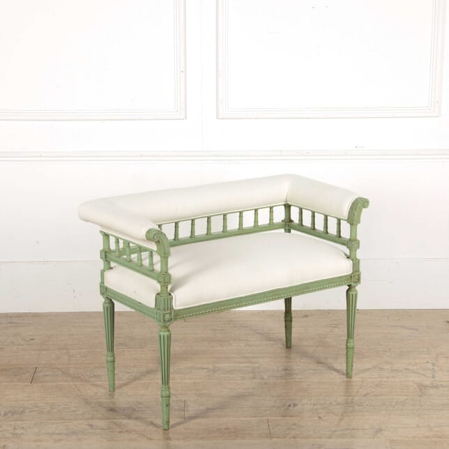 Small Green Sofa with Linen Upholstery SB138351