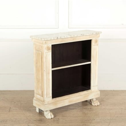 Small Painted Bookcase with Marble Top BK138336