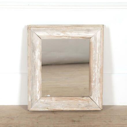 Small Square White Framed Mirror MI448745