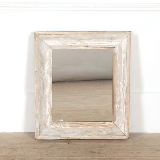 Small Square White Framed Mirror MI448746