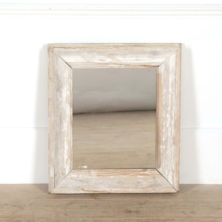Small Square White Framed Mirror MI448746