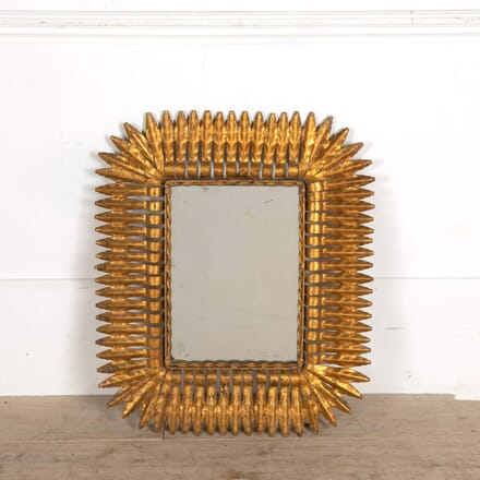 Spanish Gilt Metal Sunburst Mirror MI458422