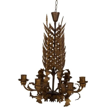 Spanish Palm Leaf Chandelier LC1510595